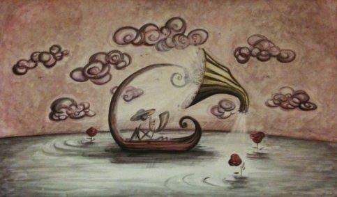 la barca, 120x60cm