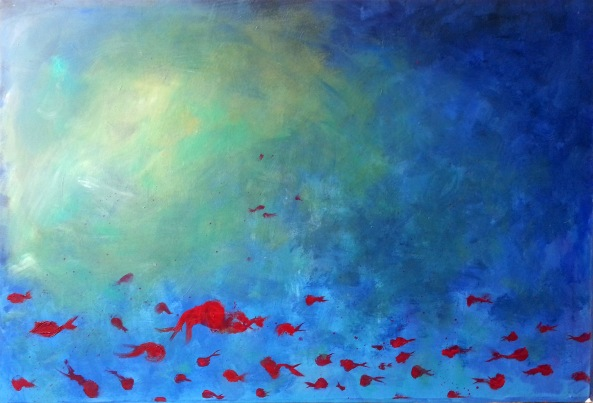 light blue, 130x80 cm