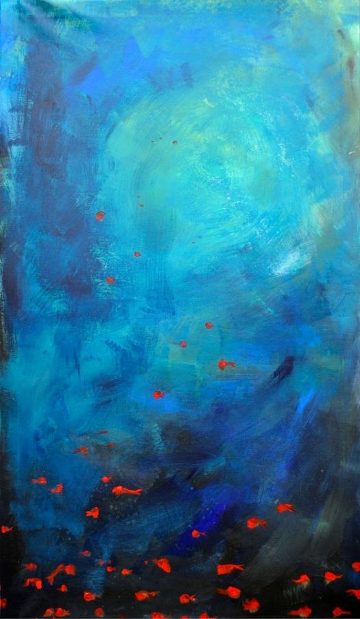 profondo blu, 130x75 cm