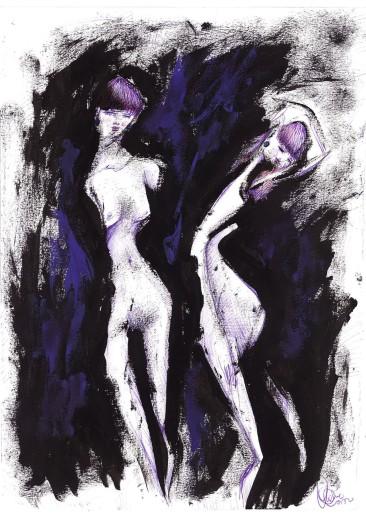donna in cinta, 24x32 cm