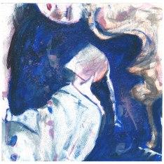 volto blu, 30x30 cm