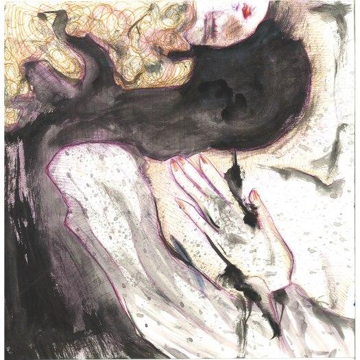 volto nero, 30x30 cm
