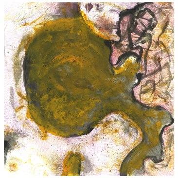 volto giallo, 30x30 cm