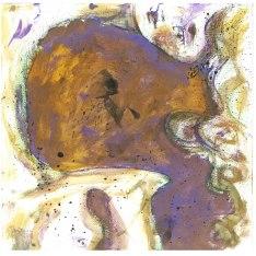 volto viola, 30x30 cm