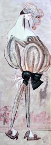 Prigioniera#2, tecnica mista, 160x55 cm, 2011