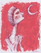 la luna, 21x29 cm