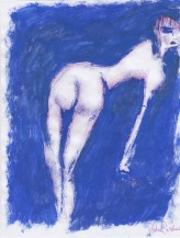 piegata in blu, 21x29 cm
