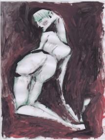 donna di spalle, 21x29 cm