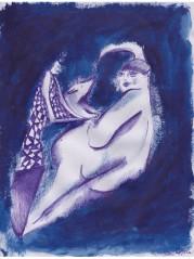 arlecchino e donna grassa, dimensioni 21x29 cm, 2015
