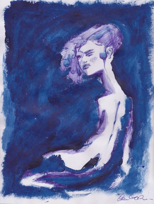 Donna di spalle, dimensioni 21x29 cm, 2015